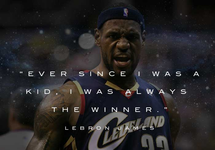 Lebron James has a lot to say on the topic of being the greatest. Here