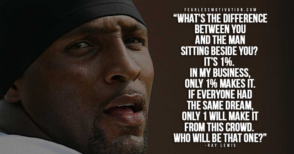 Ray Lewis Quotes About Success: The Only Way To Defeat Pain Is To Recogn By Ray Lewis