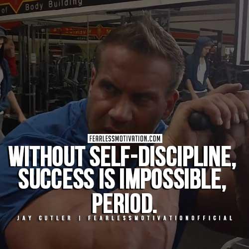 Jay Cutler Quotes - Self Discipline