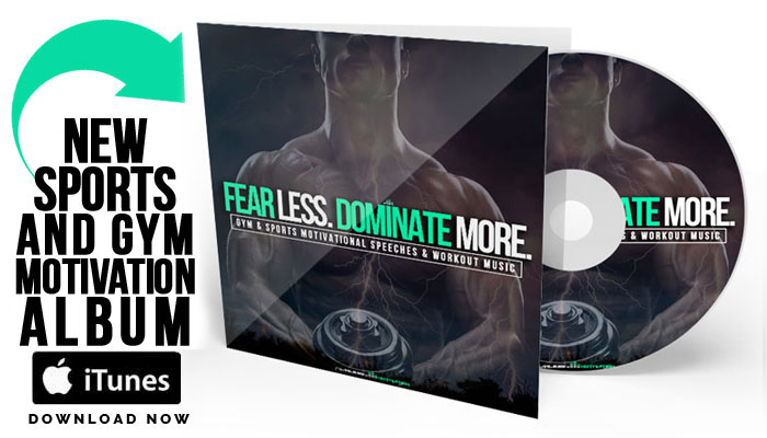 fear less dominate more gym motivation