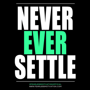 never give up success comes to those who persist fearless