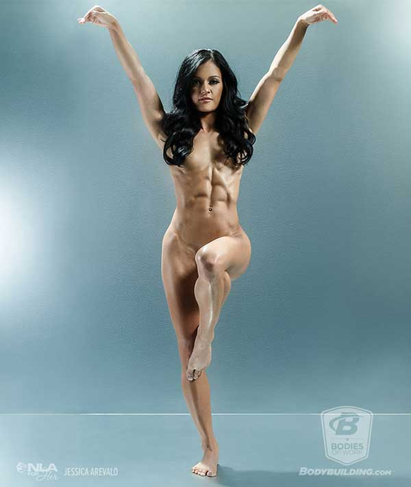 Body building nude women