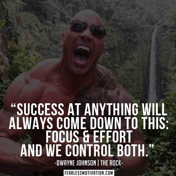 """Success at anything will always come down to this: Focus & Effort, and we control both."""