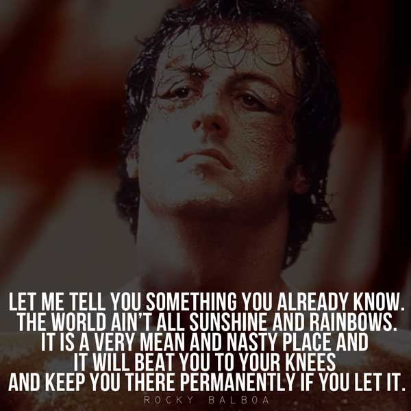 Famous Rocky Quotes Interesting Epic Rocky Balboa Quotes & Sylvester Stallone Speeches
