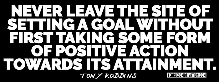 tony robbins quote goals