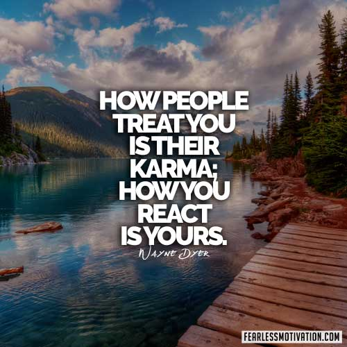 dr. wayne dyer quotes karma