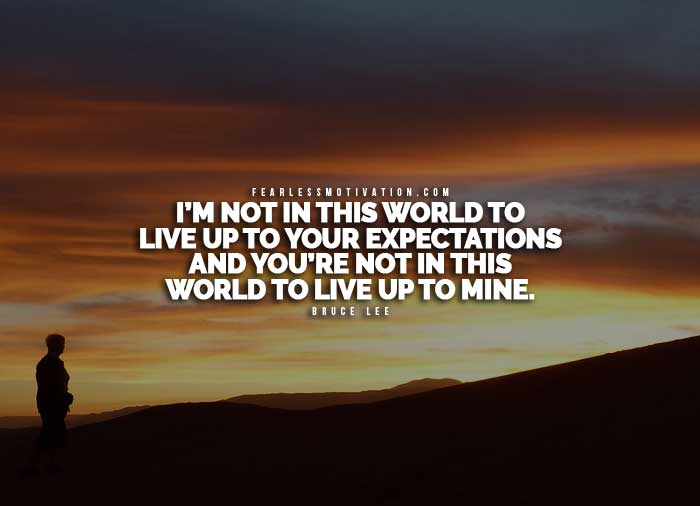 60 Of The Most Powerful Inspiring Quotes On Expectations Enchanting Inspiring Quotes
