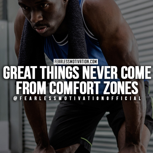 Motivational Quotes For Sports Teams: Get Out Of Your Comfort Zone