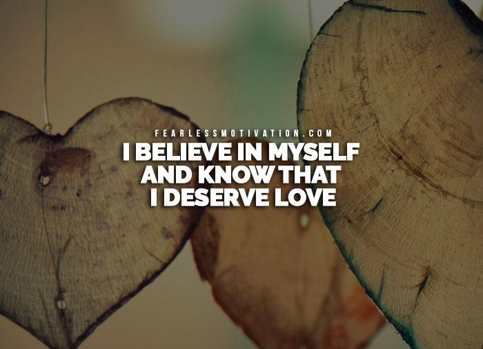 positive affirmations for self esteem
