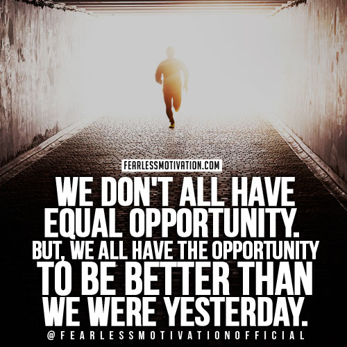 opportunity motivational quote