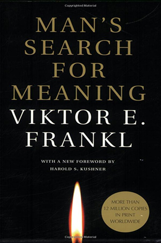 The book cover for man's search for meaning.