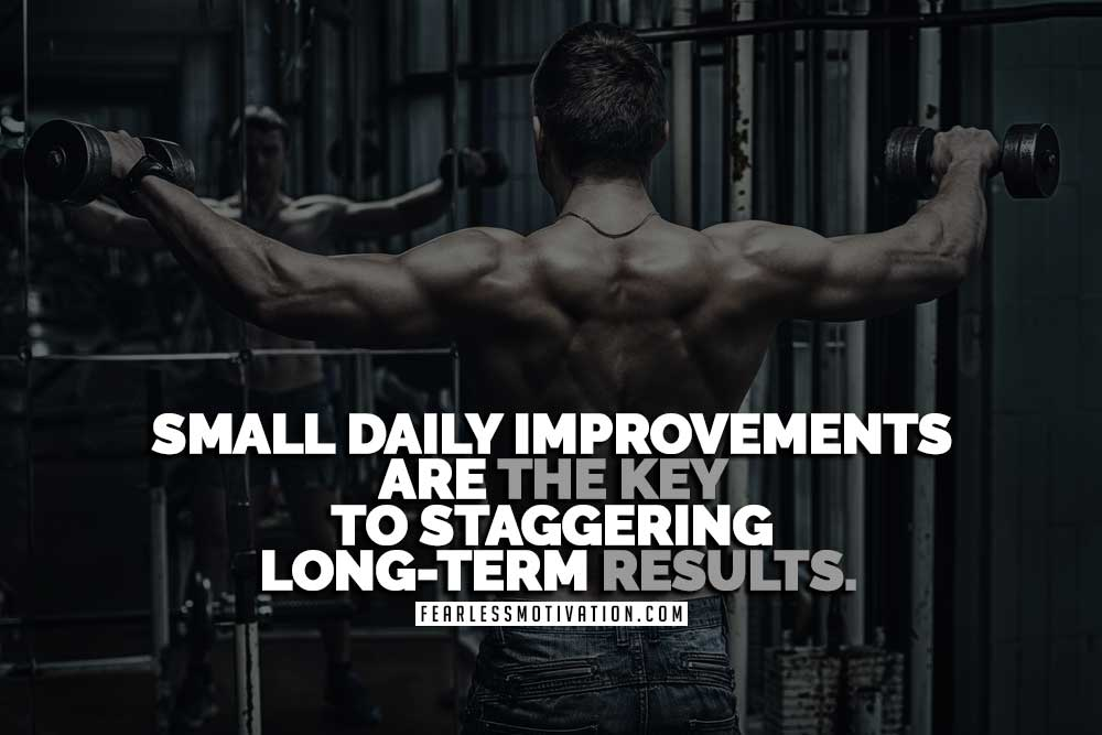 Weight-loss motivation - keep track of small daily improvements