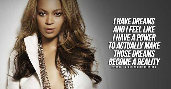 beyonce quotes dreams