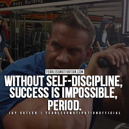 Jay Cutler Quotes - Self Discipline