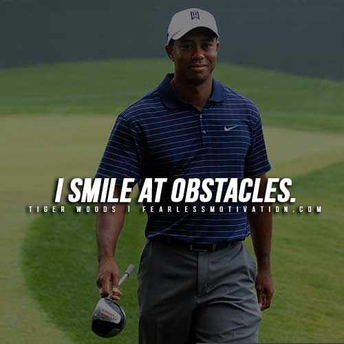 Tiger Woods Quotes - Smile
