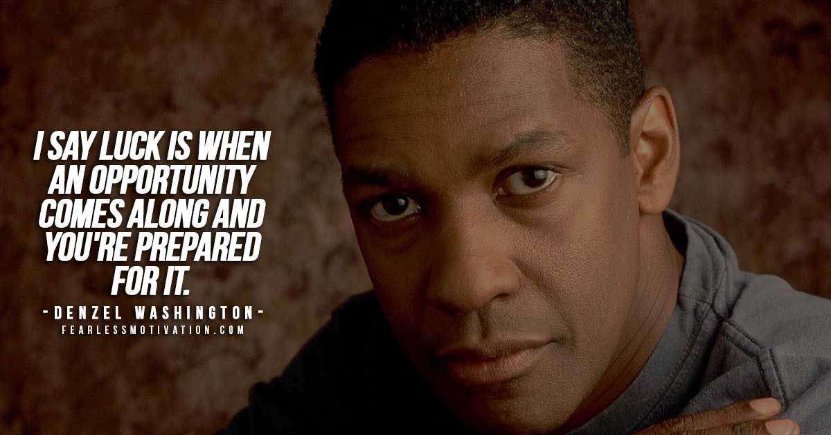 Denzel Washington Quotes Custom Denzel Washington Quotes & Top 10 Rules For Success  Fearless