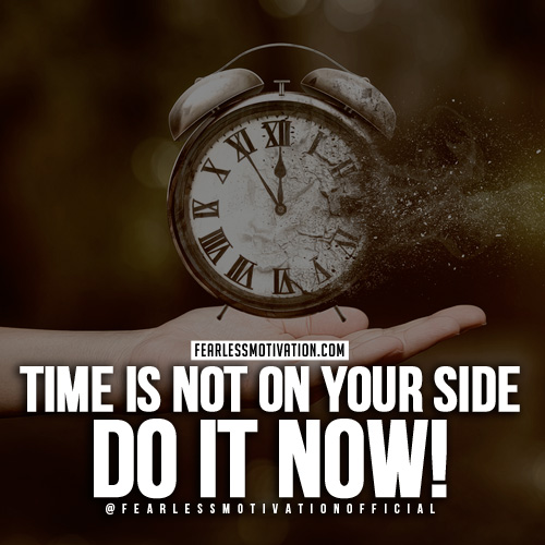 time motivational quote