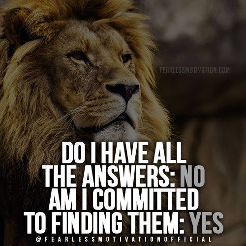 Lion Quotes In Pictures-commitment