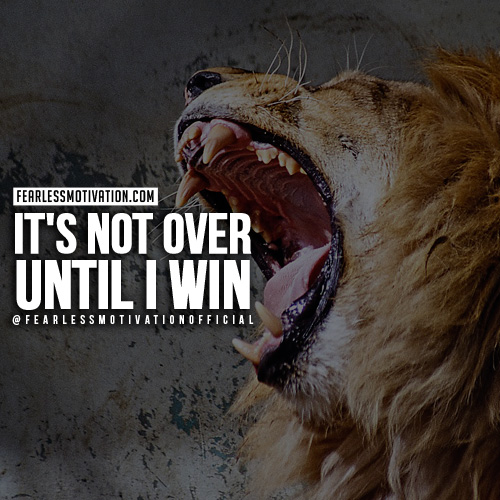 lion quotes not over