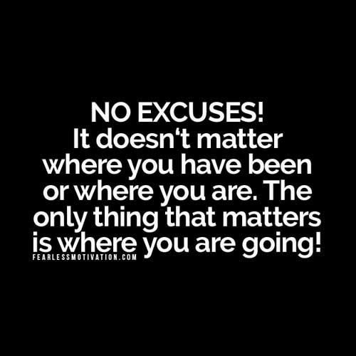 no man no excuses Times You Must Say No