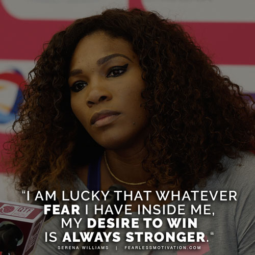 serena williams quotes fear