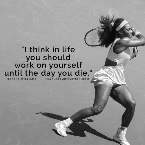 serena williams quotes hard work