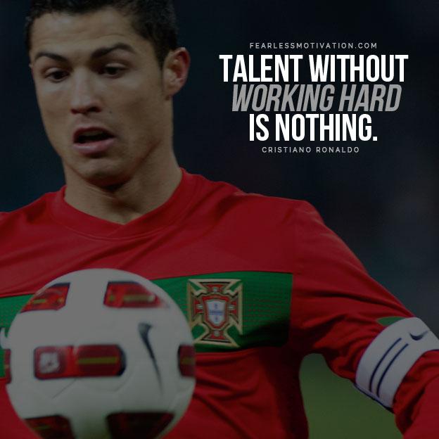 cristiano ronaldo quotes talent