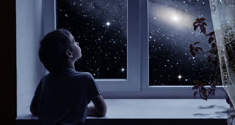 Image result for boy looking at stars