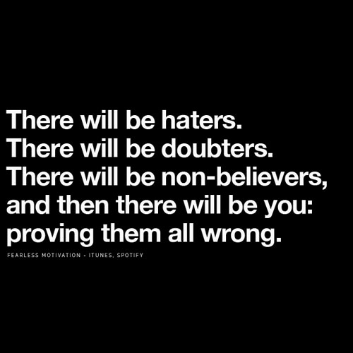Haters and Critics