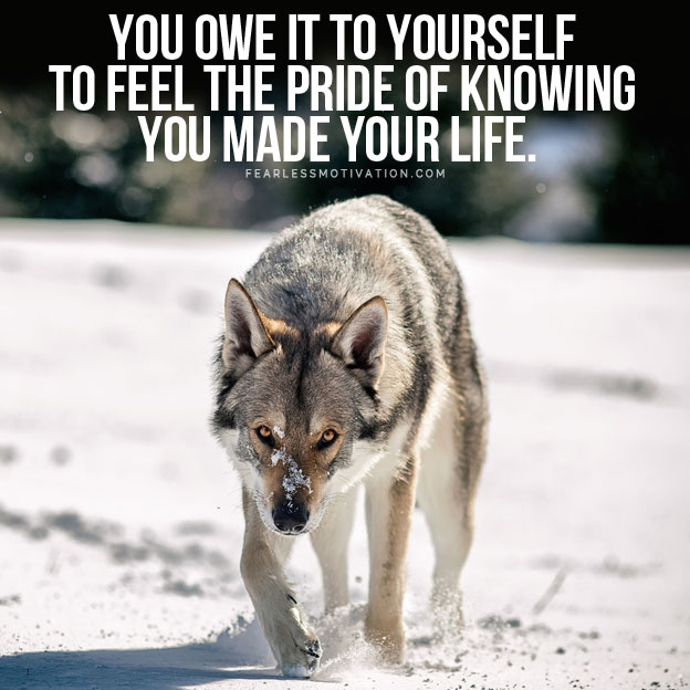 you owe it to yourself to be great