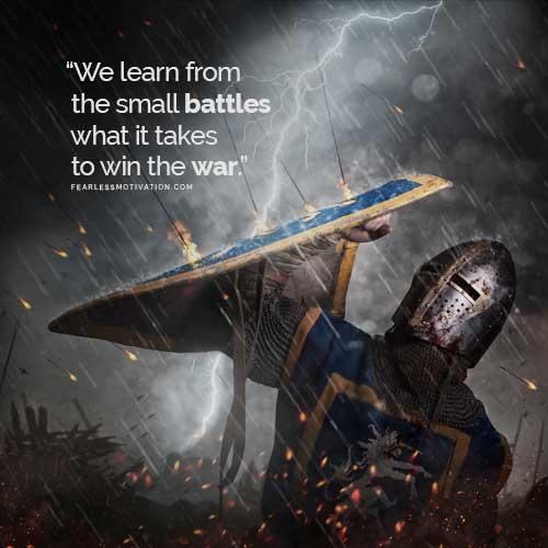 War fight win battle motivational inspirational goals