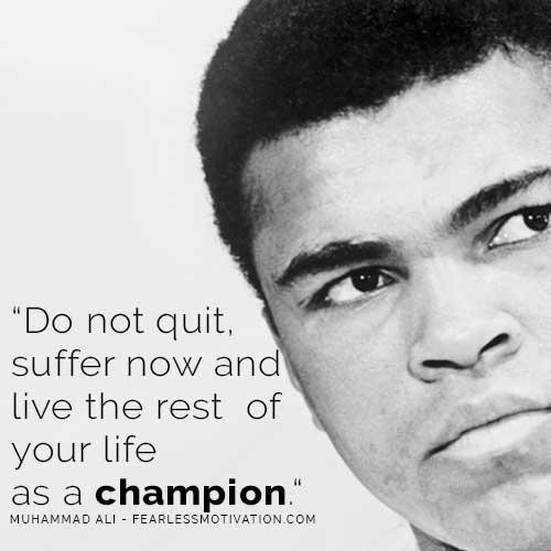 War fight win battle motivational inspirational goals Ali