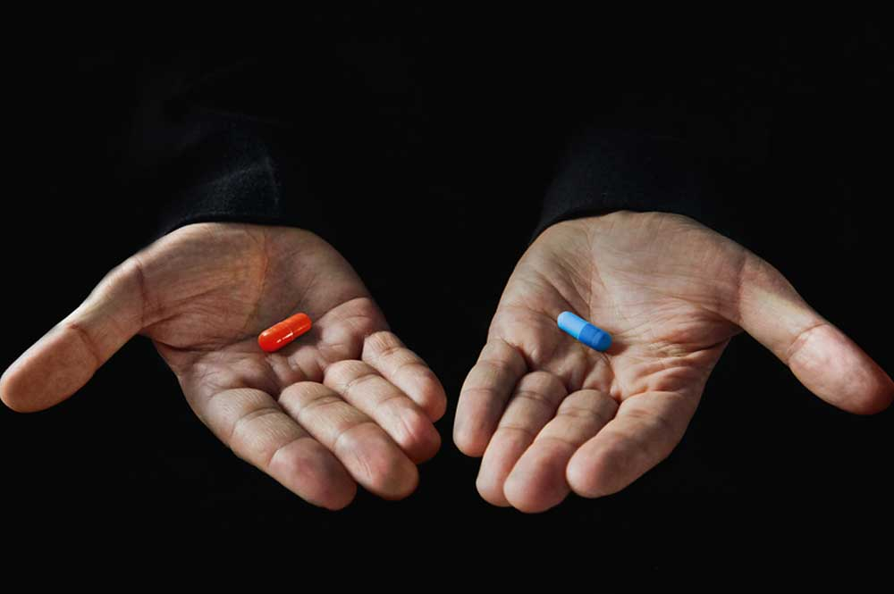 Image result for red pill blue pill
