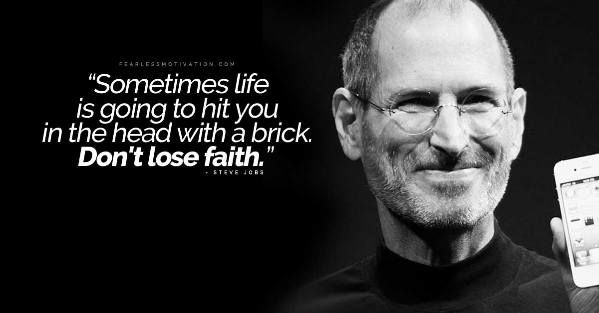 Got fired you were blessed Steve jobs hit in the head with a brick don't lose faith fired laid off sacked no job unemployed
