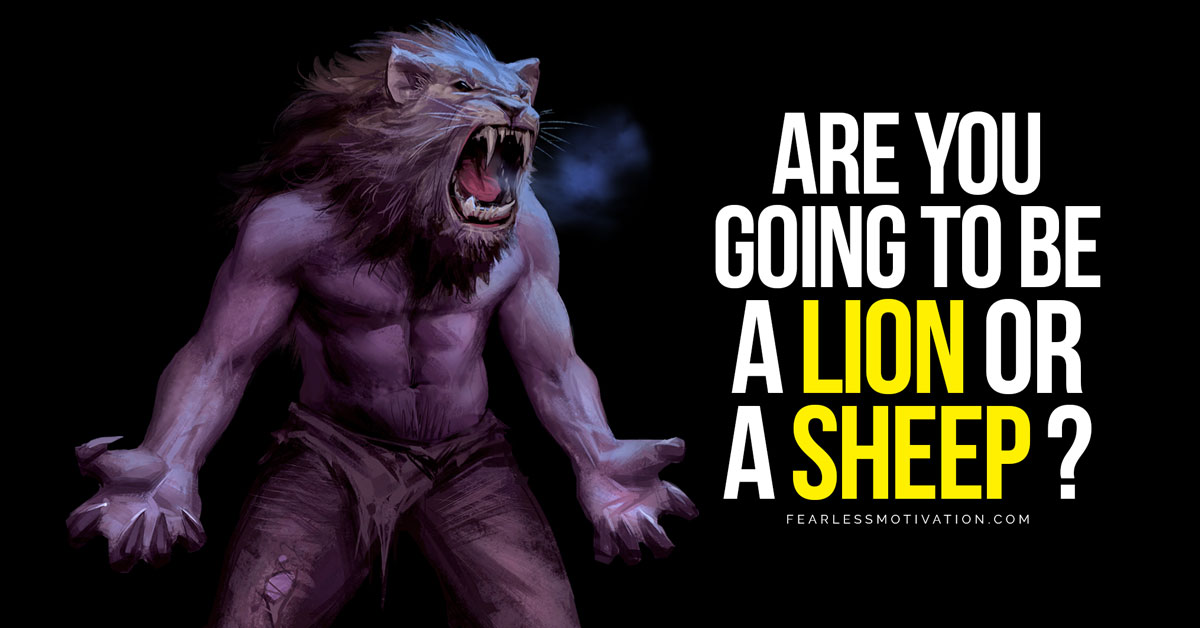 are you going to be a lion or a sheep