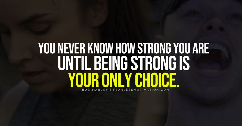 lo scopo ti dà forza