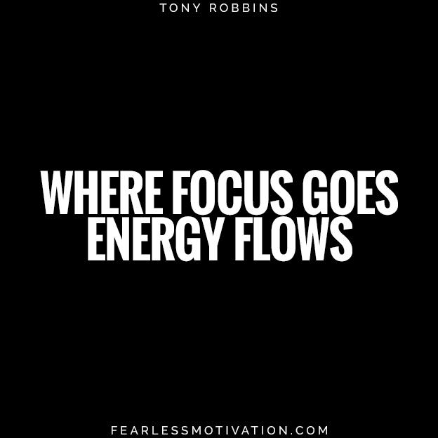 dove l'attenzione va i flussi di energia Tony Robbins cita la vita lavorativa bilanciamento dei pneumatici energia 4 semplici passaggi per raggiungere l'equilibrio tra lavoro e vita privata oggi