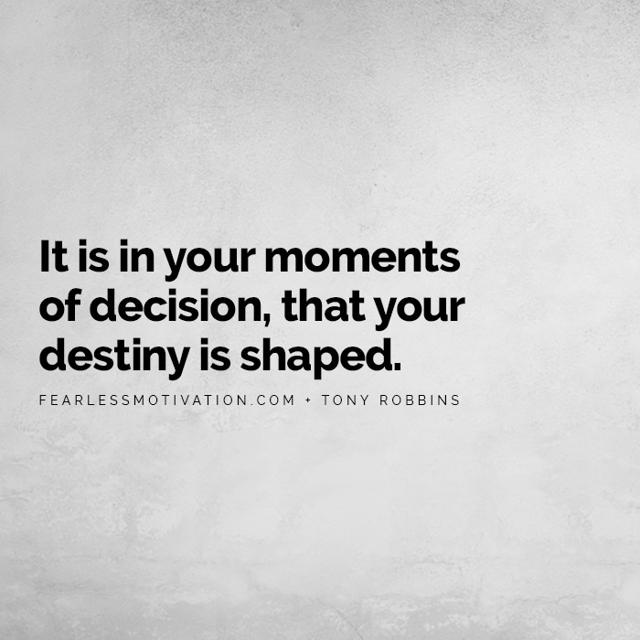 Science Proves This One Habit Will Double Your Weight Loss It is in your moments of decision, that your destiny is shaped.