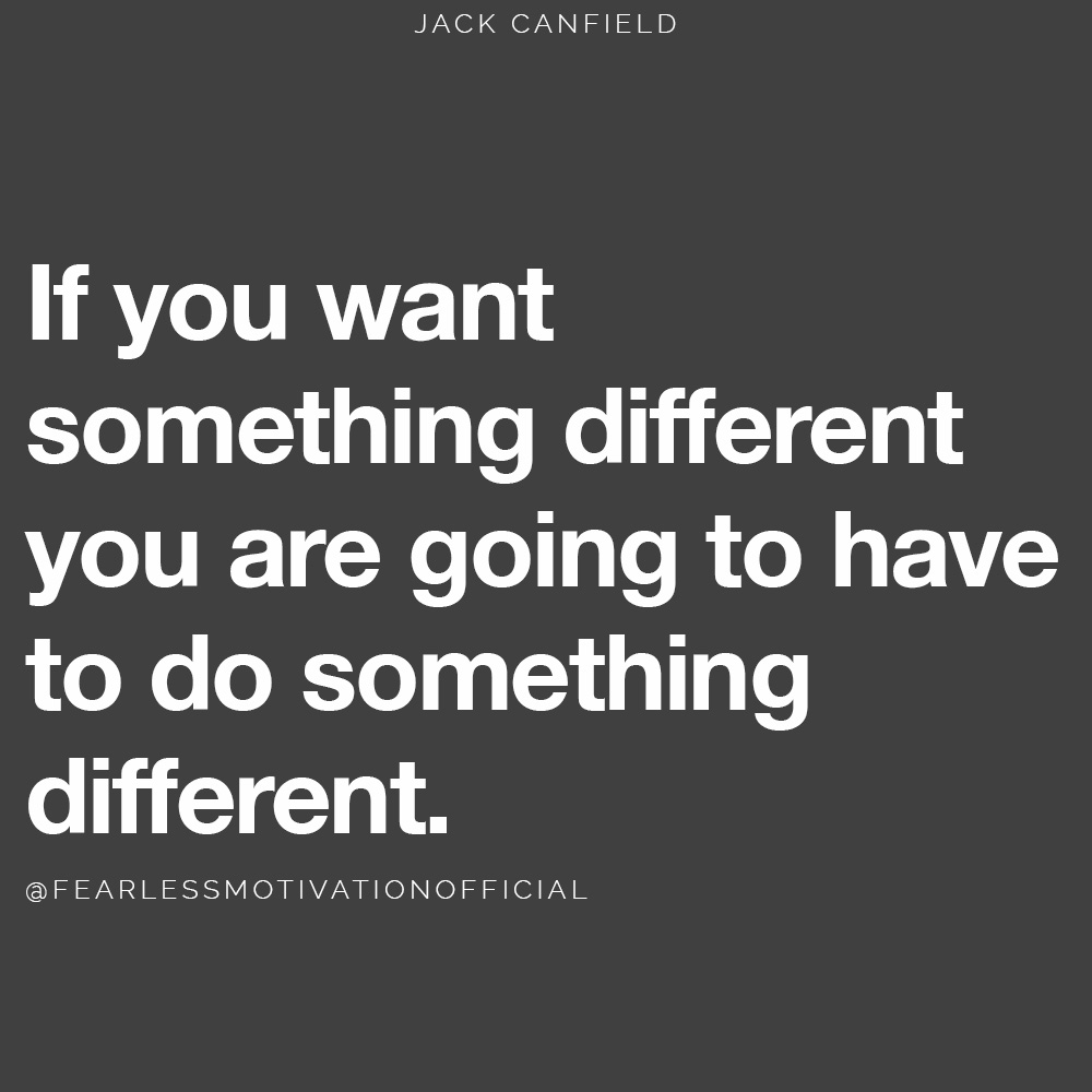 The Hour of Power: How To Make Your Mornings Immense   If you want something different you are going to have to do something different jack canfield morning quote hour of power routine energy sleep tired habit goal success