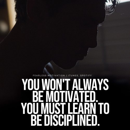 learn to be disciplined quote