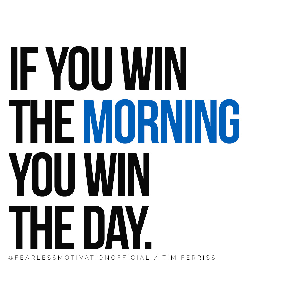 How To Max Out Your Life In Every Area ED MYLETT IF YOU WIN THE MORNING YOU WIN THE DAY.