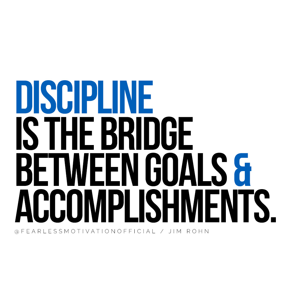 How To Get Back On Track When You Feel Hopeless Discipline is the bridge between goals & accomplishments. quote habits of the wealthy law of attraction coaching