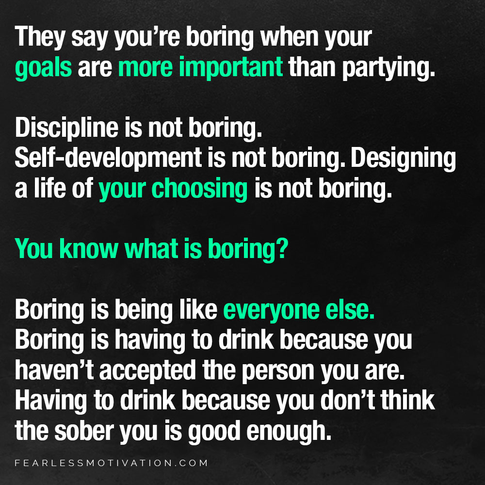 you're boring
