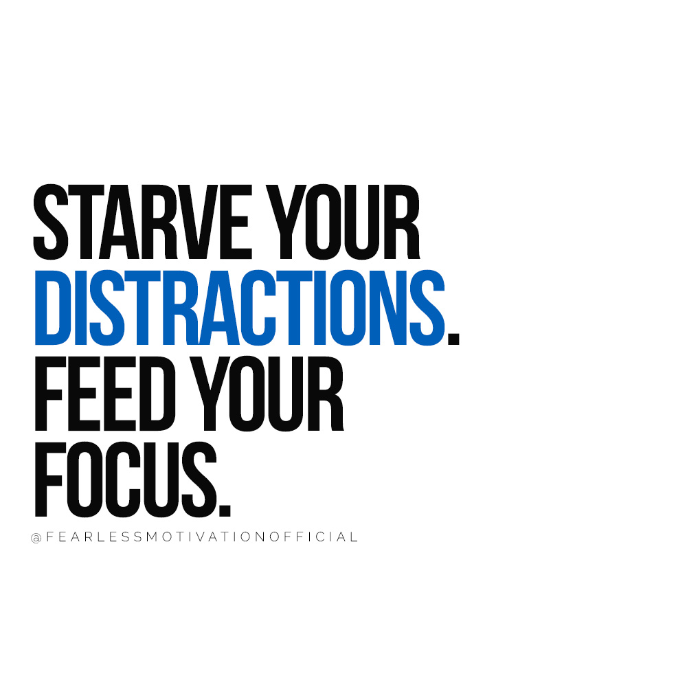How to Break Your Phone Addiction Once and For All starve your distractions. feed your focus.