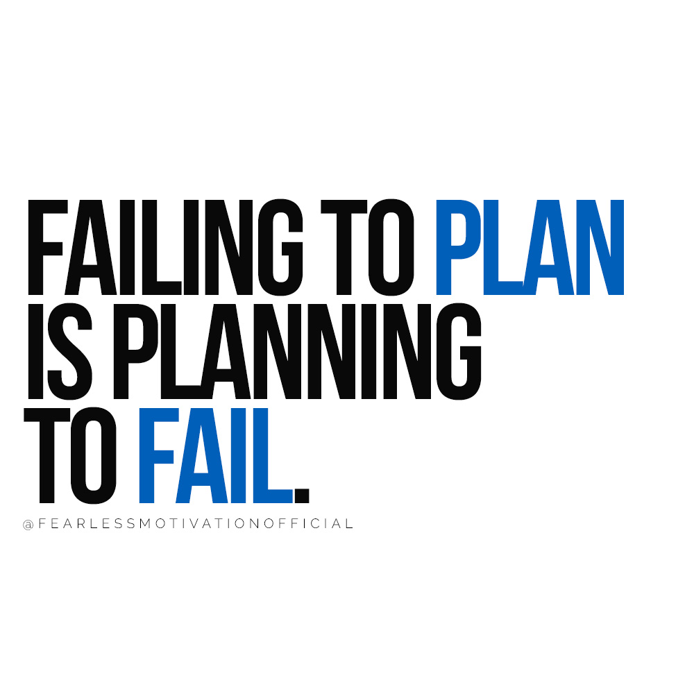 How To Get Your Focus Back: Get More Done Now Failing to plan is planning to fail. quote