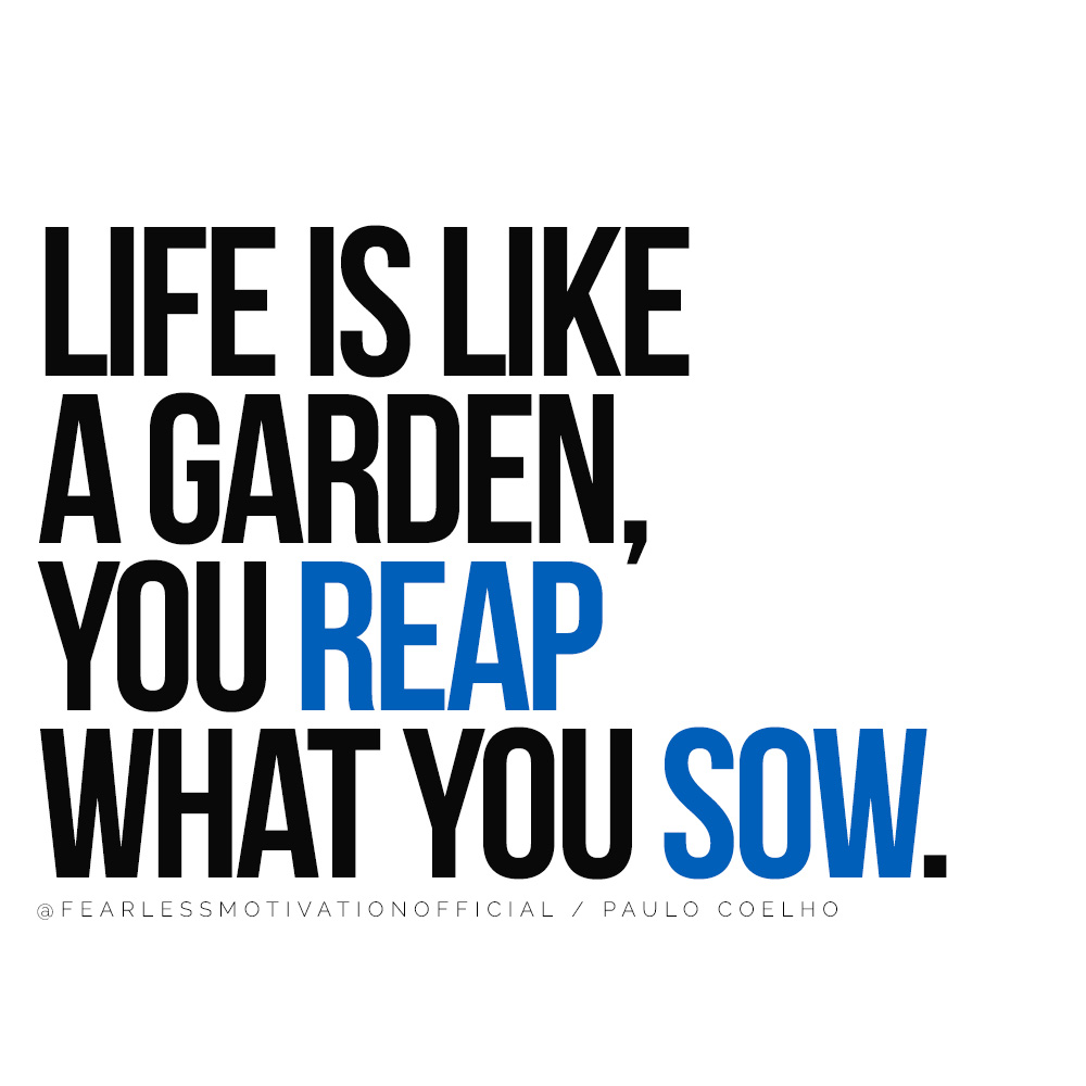 The 12 Laws of Karma Will Change Your Approach to Life Life is like a garden, you reap what you sow.