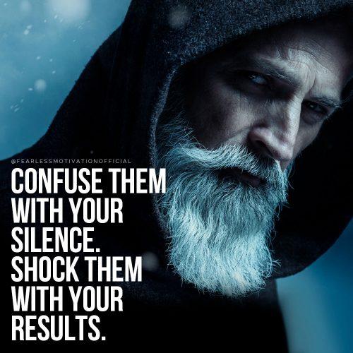 confonderli con il tuo silenzio