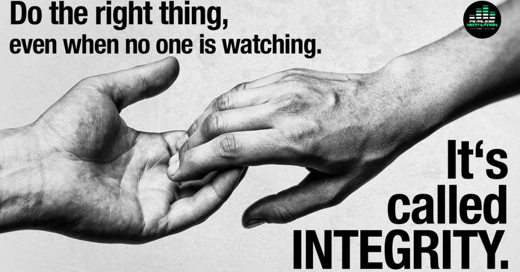 It's Called Integrity quote