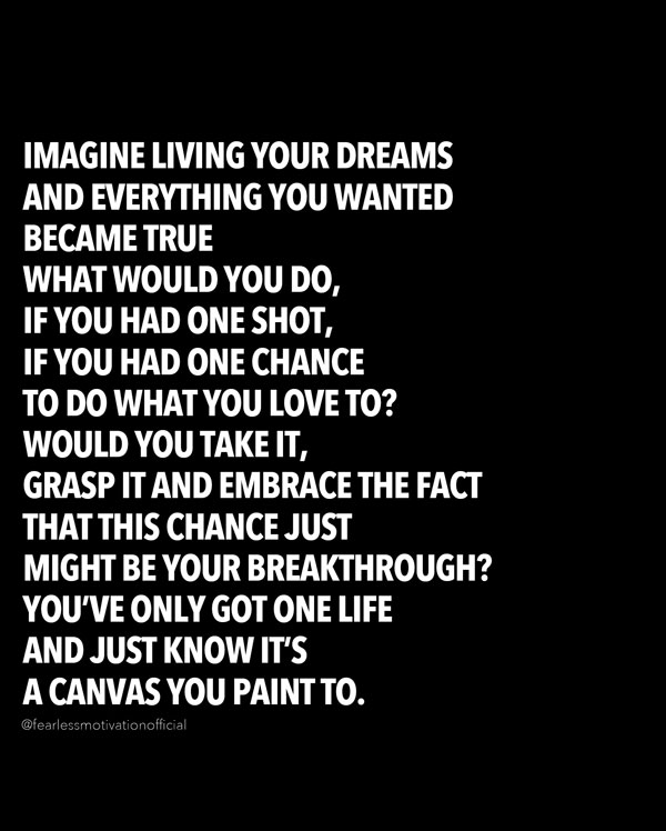 imagine living your dream