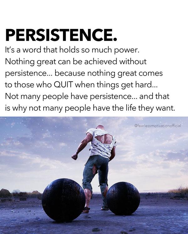 persistence speech